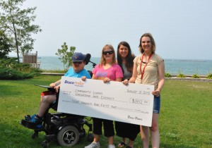 Community Living receives Fifteen Hundred Dollars from Hawthorne Cup
