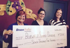 Bruce Power donates to Bluewater Summer Playhouse